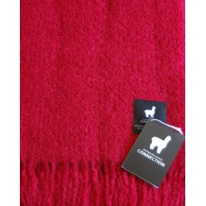 Boucle style alpaca throw